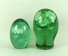 A green glass dump, 19th century, filled with foil