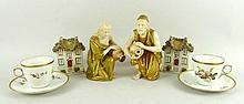 A pair of Royal Worcester blush porcelain figures,