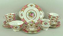 A Royal Albert porcelain part tea service