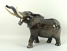 A Beswick pottery figure of an African elephant,