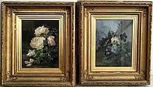 Alexandre Debrus (1843-1905): a pair of flower