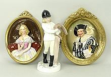 A Wedgwood pottery oval wall plaque of The Laughin