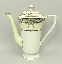 A Royal Worcester porcelain part coffee service de
