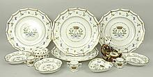 A group of four Royal Crown Derby gadrooned porcel