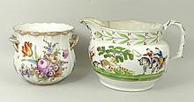 A Dresden porcelain cache pot, early 20th century,