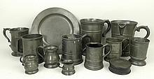 A quantity of 18th century and later pewter includ