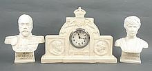 A commemorative clock garniture for George V and Q