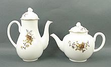 A Royal Worcester porcelain part tea and coffee se