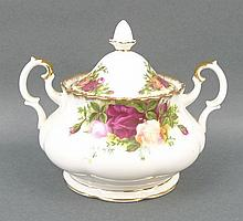 A Royal Albert porcelain part tea service decorate