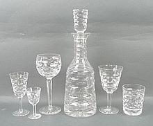 A part set of Waterford Crystal decorated in the '