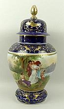 A Vienna style porcelain vase and cover, early 20t
