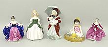 A quantity of Royal Doulton figures, comprising; '