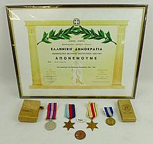 Three WWII medals including the 1939-1945 Star, Th