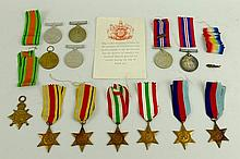 WWI medals F. J Day Private Northern regiment 1309