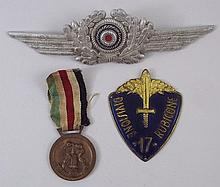 A Luftwaffe officer's cap badge, WWII German/Itali