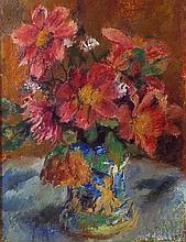 Rainer (20th century): still life of flowers, oil