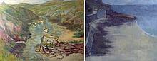 June Feiler (British b.1924): Sennen Cove, Cornwal
