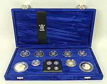 A Royal Mint proof Millennium Collection of silver