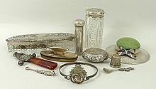 A 19th century silver and agate rattle indistinctl