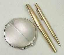 A rolled gold Parker pen, and a 'Yard-O-Led' rolle