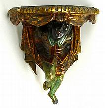 A Venetian wall sconce, late 19th century, the bra