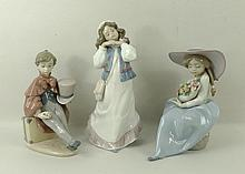 A group of Lladro figurines