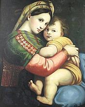 After Raphael Sonzio: Madonna Della Sadia