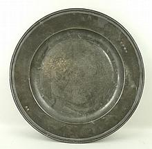 An 18th century pewter charger