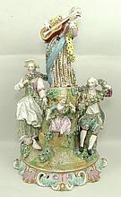 A porcelain centrepiece figural group