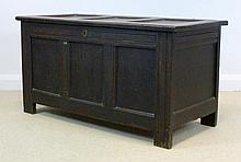 An 18th century oak blanket chest