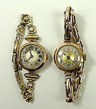 A lady's 9ct gold wristwatch