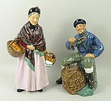 A Royal Doulton figurine of 'The Lobster Man' HN2317, and another of 'The Orange Lady' HN1759.
