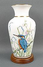 A Royal Worcester porcelain 'Kingfisher Vase', number 229/2500, commissioned by Spink, printed mark,