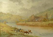 H. Murray (19th century): Tintern Abbey, Monmouthshire, watercolour, signed lower right, 25 by 35cm.