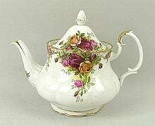 A Royal Albert porcelain part dinner and tea service decorated in the 'Old Country Roses' pattern, s