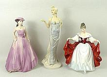 A group of porcelain figures, comprising; Royal Doulton figure of Sara, HN2265, Royal Doulton 'Class