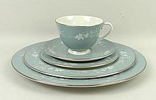 A Royal Doulton porcelain part dinner and tea service decorated in the 'Reflection' pattern, compris