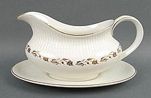 A Royal Doulton porcelain part dinner and tea service decorated in the 'Fairfax' pattern, comprising