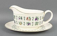 A Royal Doulton porcelain part dinner service decorated in the 'Tapestry' pattern, comprising; two l