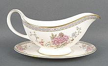 A Royal Doulton porcelain part dinner and tea service decorated in the 'Canton' pattern, comprising;