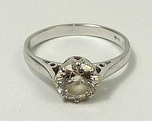 An 18ct white gold and diamond solitaire ring, approximately 1.2ct, size Q, 3.3g.