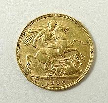 An Edward VII gold sovereign 1908.