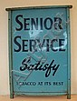 A Senior Service enamelled advertising sign with