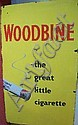 A Woodbine sign, in yellow ground, in good