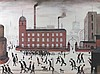 After L. S. Lowry (British, 1887-1976): 'Going to the MIll', print, signed in pencil lower right, 44, L.S. Lowry, £0
