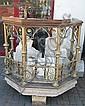 Church stone pulpit.