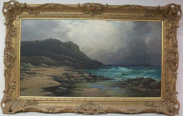 Elmer Keene (British): an oil on canvas of