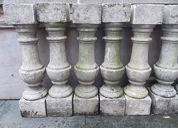 Seven Georgian style baluster shaped columns, 16