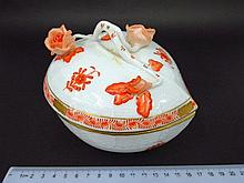 Porcelain box by Herend, Hungary,