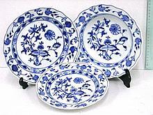 Three Meissen porcelain plates